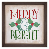 Merry and Bright Rustic Framed Quote