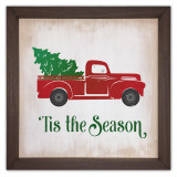 'Tis the Season Rustic Framed Quote