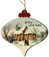 O Come All Ye Faithful Vintage Ornament