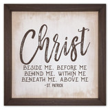 """Christ Beside Me"" Rustic Framed Quote"