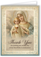 Vintage Christ Child First Communion Thank You Note Card