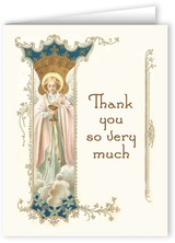 Vintage Angel Holding Eucharist Thank You Note Card