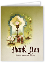 Vintage Priesthood Thank You Note Card