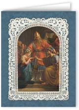 Ornate Matrimony Thank You Note Card