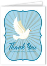 Simple Dove Confirmation Thank You Note Card
