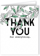 Willow Branch Thank You Note Card