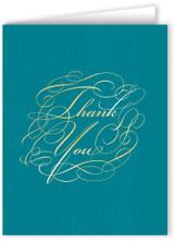 Elegant Script Thank You Note Card