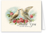 Turtle Doves Wedding Thank You Note Card