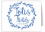 """Totus Tuus"" Quote Note Card"