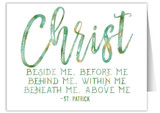 """""""Christ Beside Me"""" Quote Note Card"""