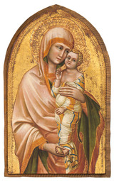 Madonna and Child by Guariento di Arpo Cloister Collection Catholic Icon Plaque