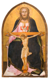 The Trinity by Agnolo Gaddi Cloister Collection Catholic Icon Plaque