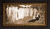 The Sleep of the Virgin by Élisabeth Sonrel - Ornate Dark Framed Art