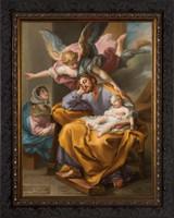 Joseph's Dream by Vicente López Portaña - Ornate Dark Framed Art