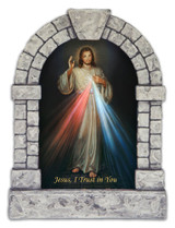 Divine Mercy Outdoor Garden Shrine