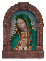 Our Lady of Guadalupe Detail Outdoor Garden Shrine