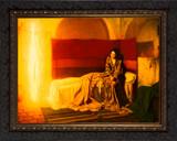 The Annunciation by Henry Ossawa Tanner - Ornate Dark Framed Art