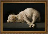 Agnus Dei by Francisco Zurbarán - Gold Framed Art