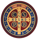 Benedictine Medal Round Glass Cutting Board