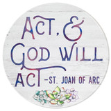 """Act & God Will Act"" Round Glass Cutting Board"