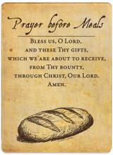 Prayer Before Meals Rectangular Glass Cutting Board
