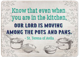 """Our Lord is Moving"" Rectangular Glass Cutting Board"