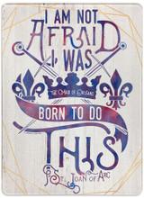 """I am not Afraid"" Rectangular Glass Cutting Board"