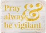 """""""Pray"""" Rectangular Glass Cutting Board"""