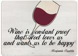 Wine is Proof Rectangular Glass Cutting Board
