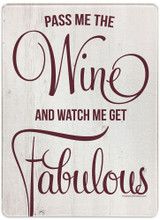 Fabulous with Wine Rectangular Glass Cutting Board