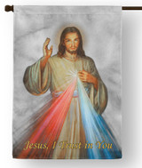 Divine Mercy Outdoor House Flag