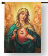 Immaculate Heart of Mary Outdoor House Flag