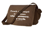 Preach the Gospel Large Messenger Bag