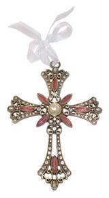 Flower Filigree Jeweled Cross