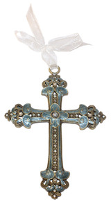 Crowns and Flowers Jeweled Cross