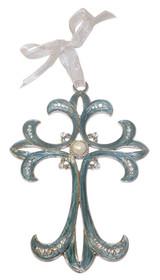 Simple Filigree Jeweled Cross