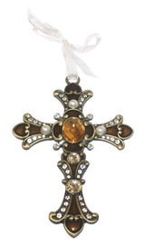 Large Gemstone Jeweled Cross