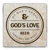 Creation of Beer Tumbled Stone Coaster