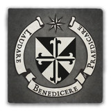 Dominican Crest Tumbled Stone Coaster