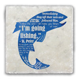 Fishing Quote Tumbled Stone Coaster