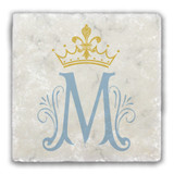 Marian Symbol Tumbled Stone Coaster