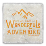 Wonderful Adventure Tumbled Stone Coaster