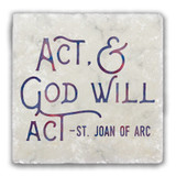 """Act"" Tumbled Stone Coaster"