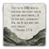"""""""Trust in the Lord"""" Tumbled Stone Coaster"""
