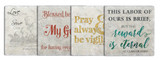 St. Clare Tumbled Stone Coaster Set (Pack of 4)