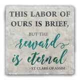 """This Labor"" Tumbled Stone Coaster"
