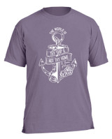 """""""The World is Thy Ship"""" Pigment Purple T-Shirt"""