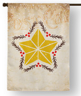 Vintage Star Outdoor House Flag