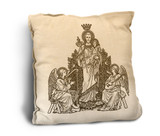 St. Joseph Woodcut Rustic Pillow
