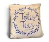 Totus Tuus Rustic Pillow